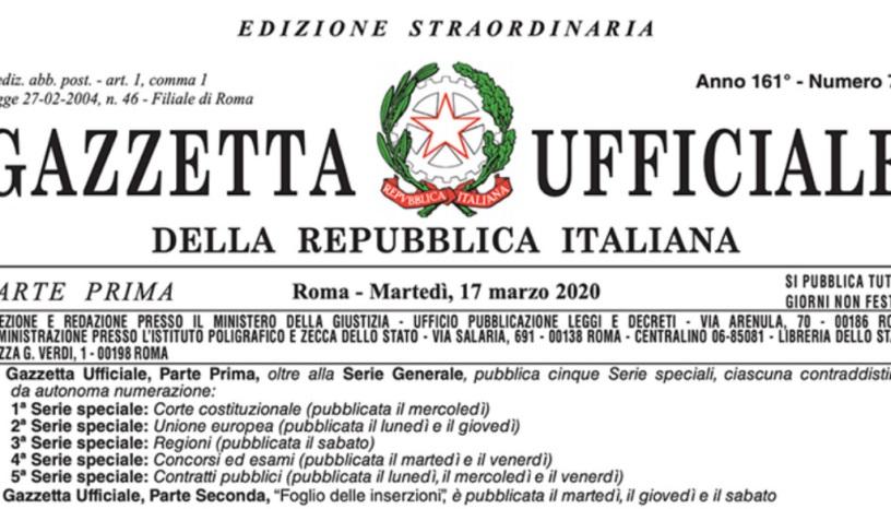Risultato immagini per decreto cura italia